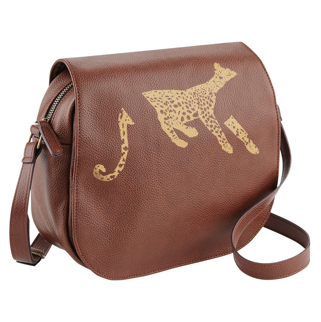 Bags - Leopard Saddle Bag