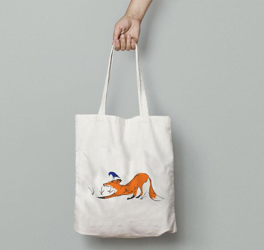 Bags - Yawning Fox Tote Bag