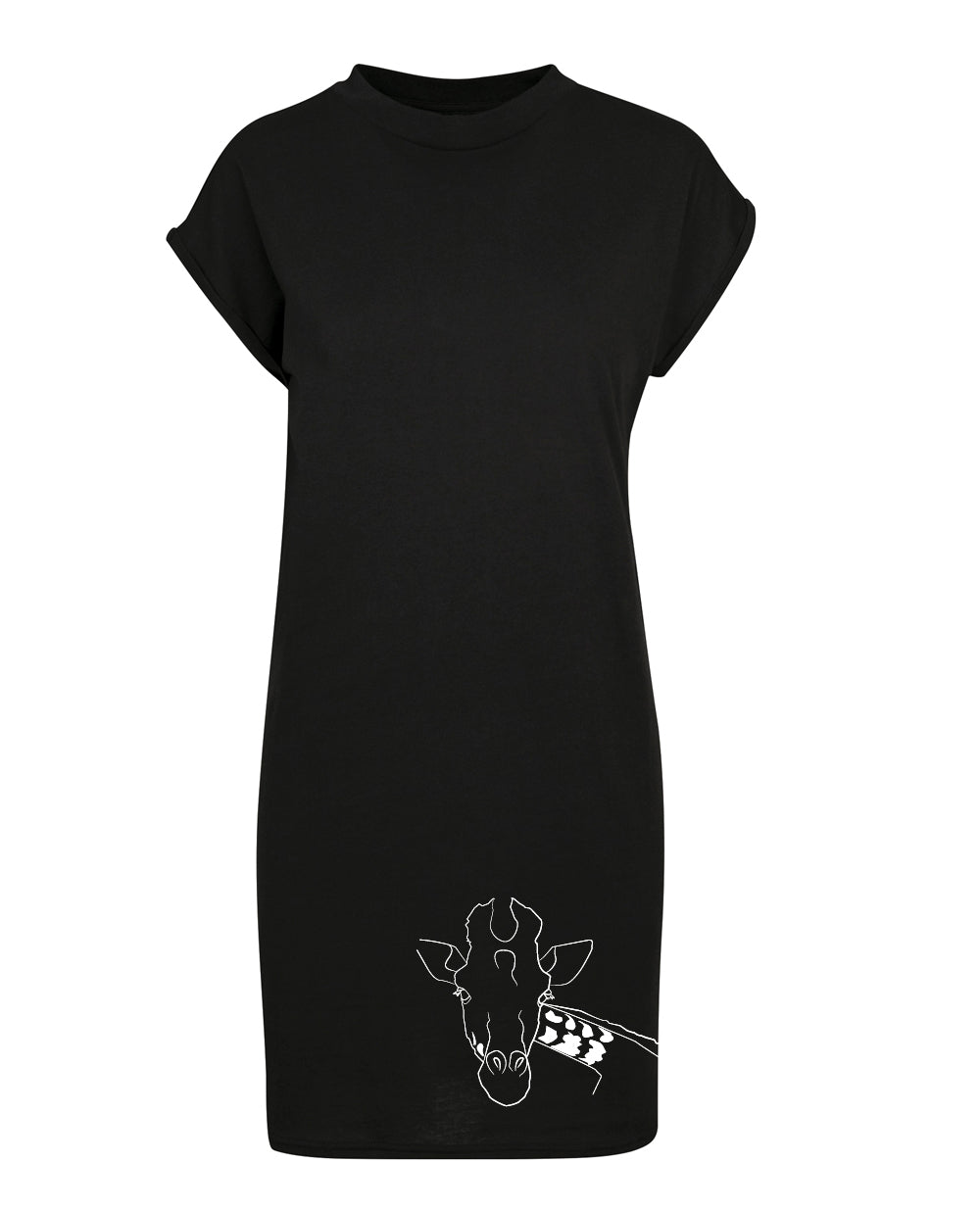 Giraffe dress, black