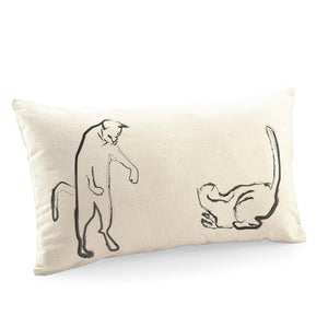 Cushion cover, cat fight