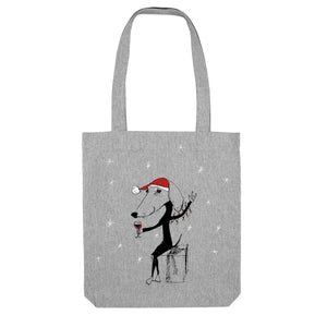 Christmas dog tote bag