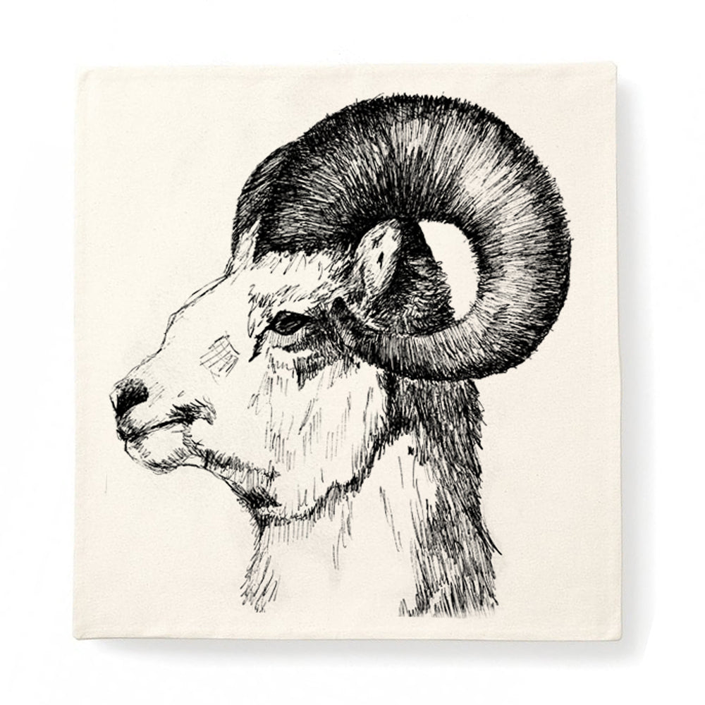 Cushion cover, Mountain Goat by Gill Pollitt