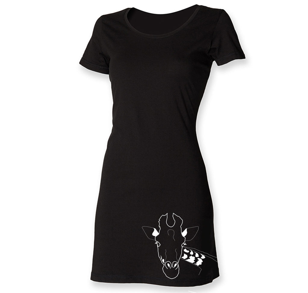 Dress - Giraffe T-shirt Dress