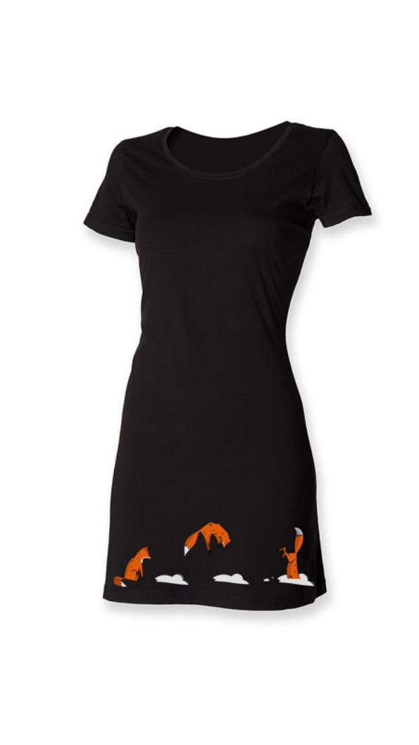 Dress - Jumping Fox T-shirt Dress