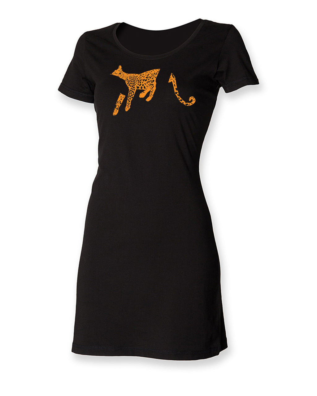 Dress - Leopard T-shirt Dress