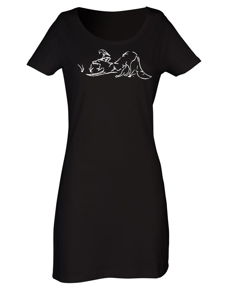 Dress - Sleepy Fox T-shirt Dress