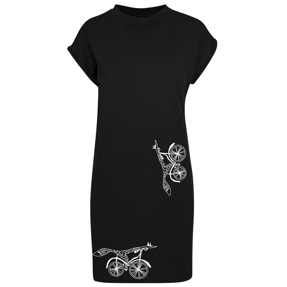Cycling fox t-shirt dress
