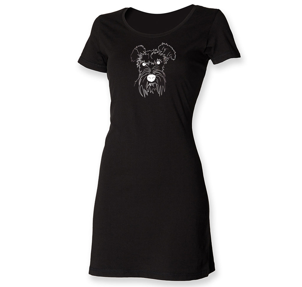 Schnauzer dog t-shirt dress