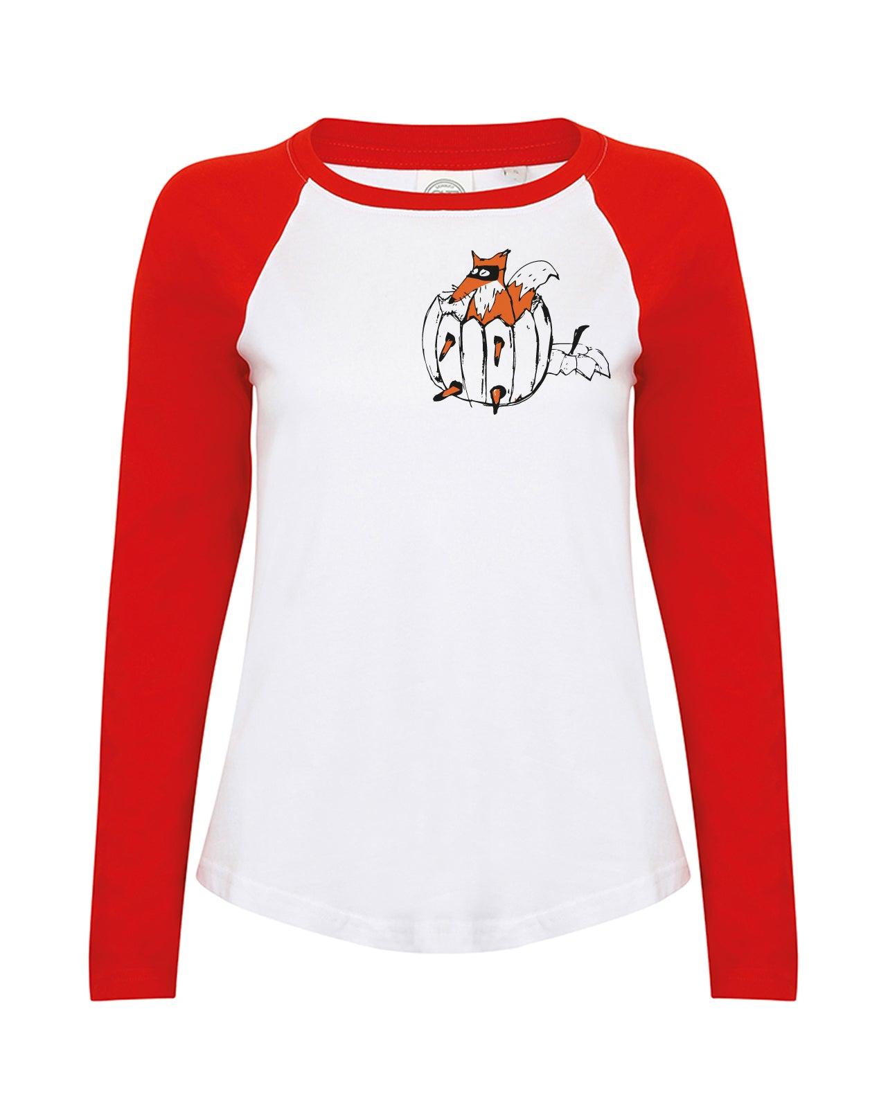 Halloween fox women raglan shirt