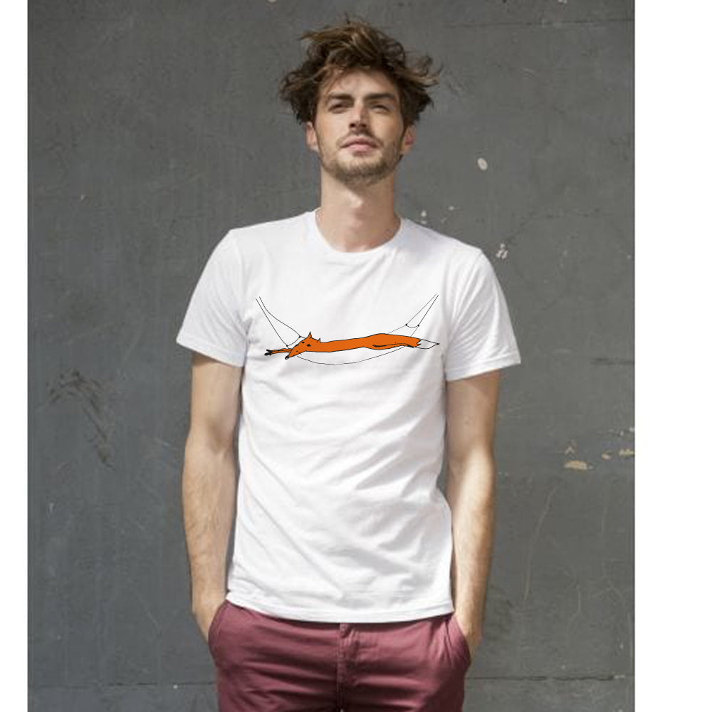 Fox in hammock men t-shirt
