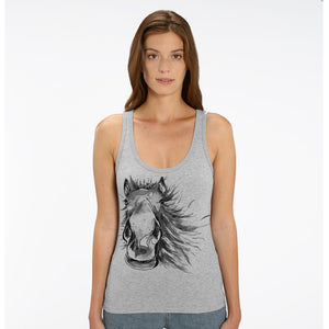Painted horse sleeveless top
