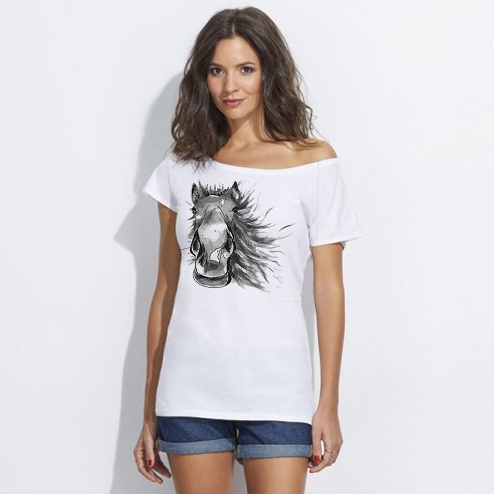 Painted horse women top
