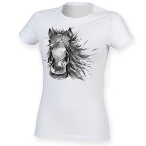 Painted horse women t-shirt