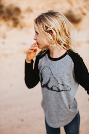 Polar bear kids raglan shirt