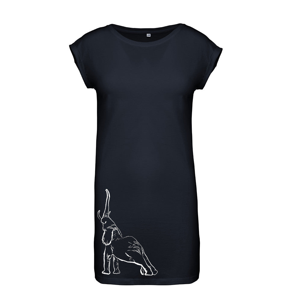 Stretching elephant flowy dress