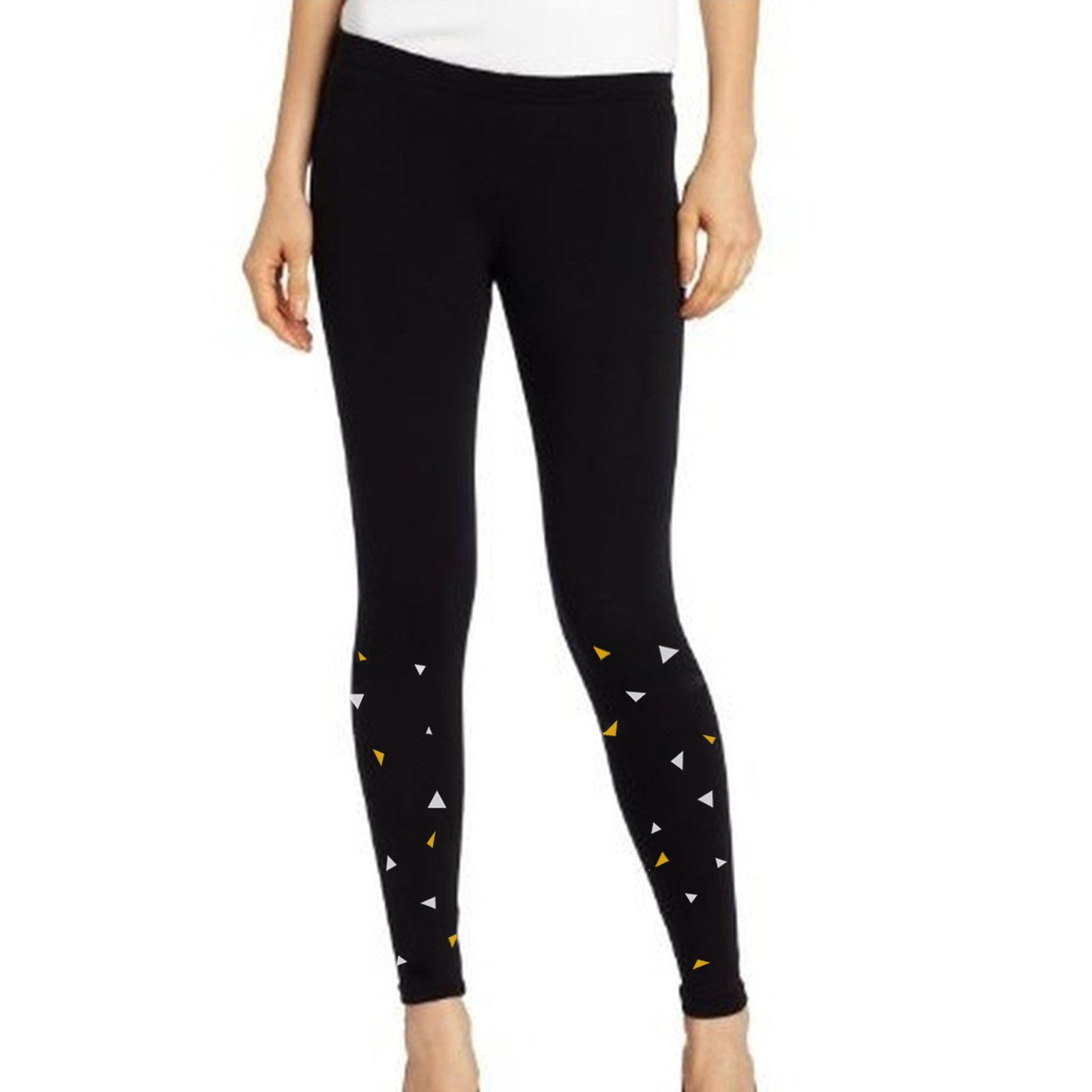 Leggings - Black Leggings With Triangles