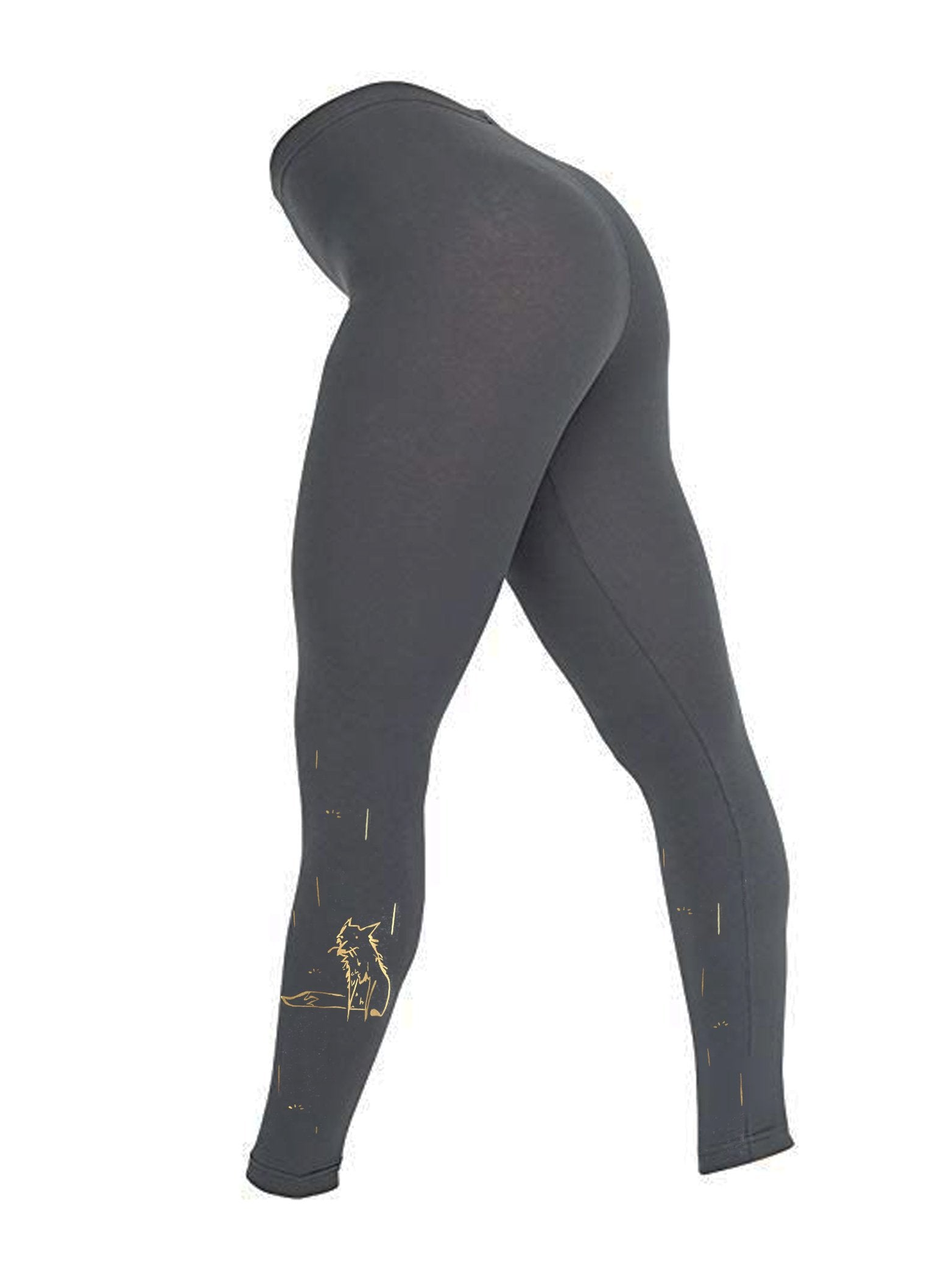 Leggings - Golden Fox Women Leggings, Asphalt Grey