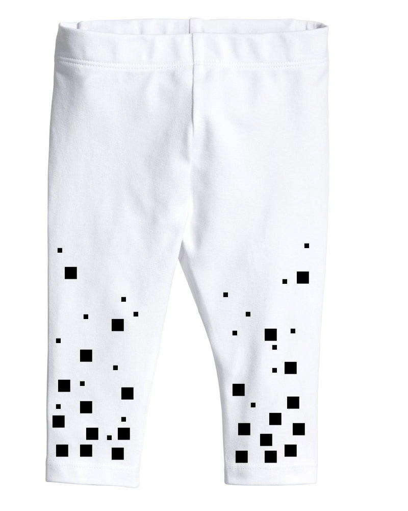 Pixel baby leggings black squares - ARTsy clothing - 1