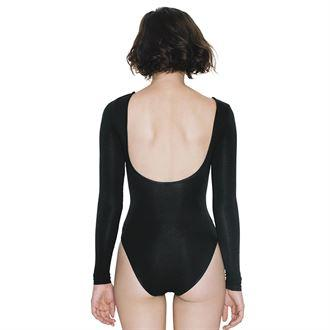 Leotard - Women Long Sleeve Bodysuit, Leopard