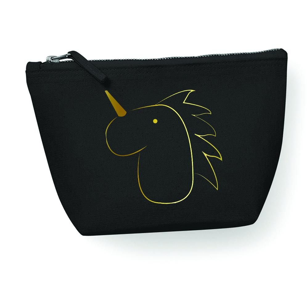Make Up Bag - Cotton Accessory Bag, Unicorn