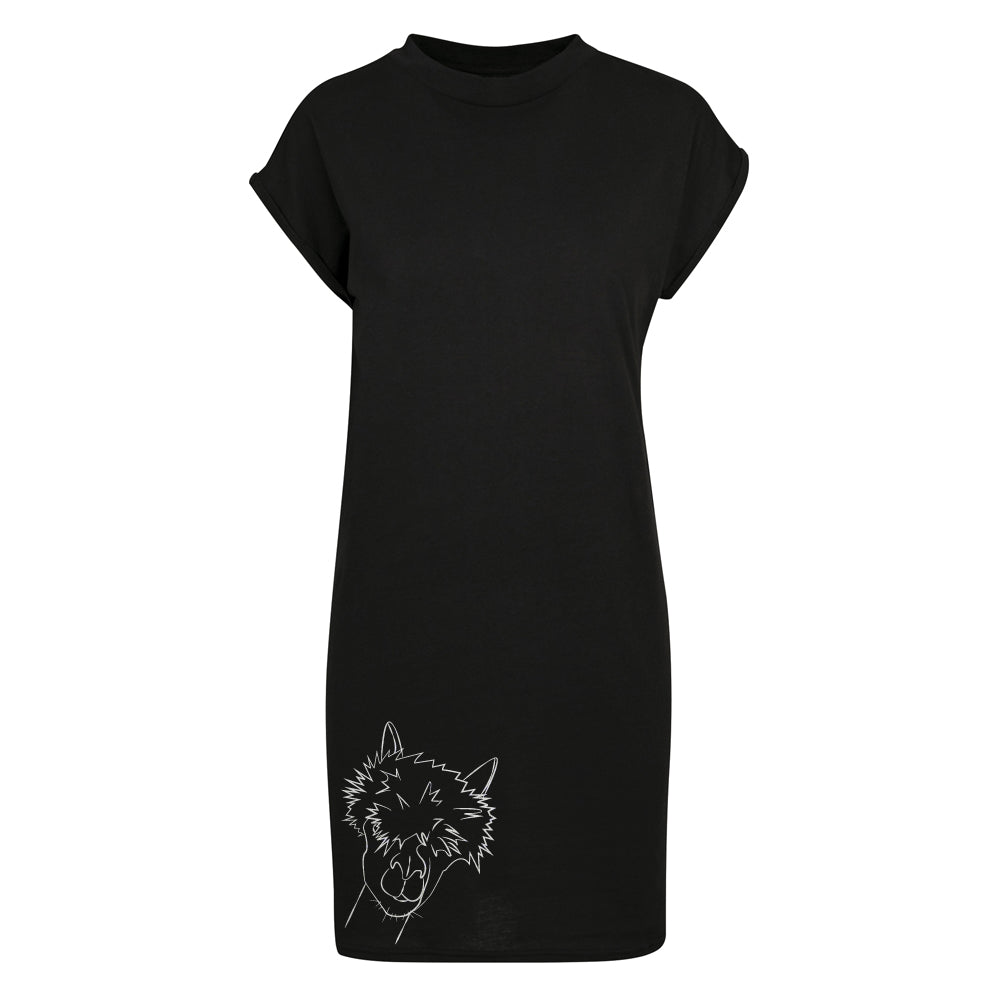 Alpaca head t-shirt dress