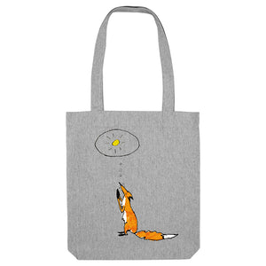 Praying fox tote bag