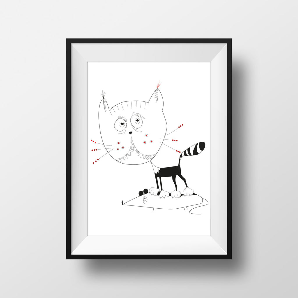 Print - Kitty Cat Art Print