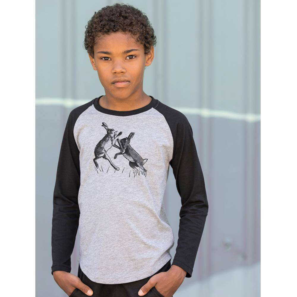 Shirts - Boxing Hares Kids Raglan Shirt