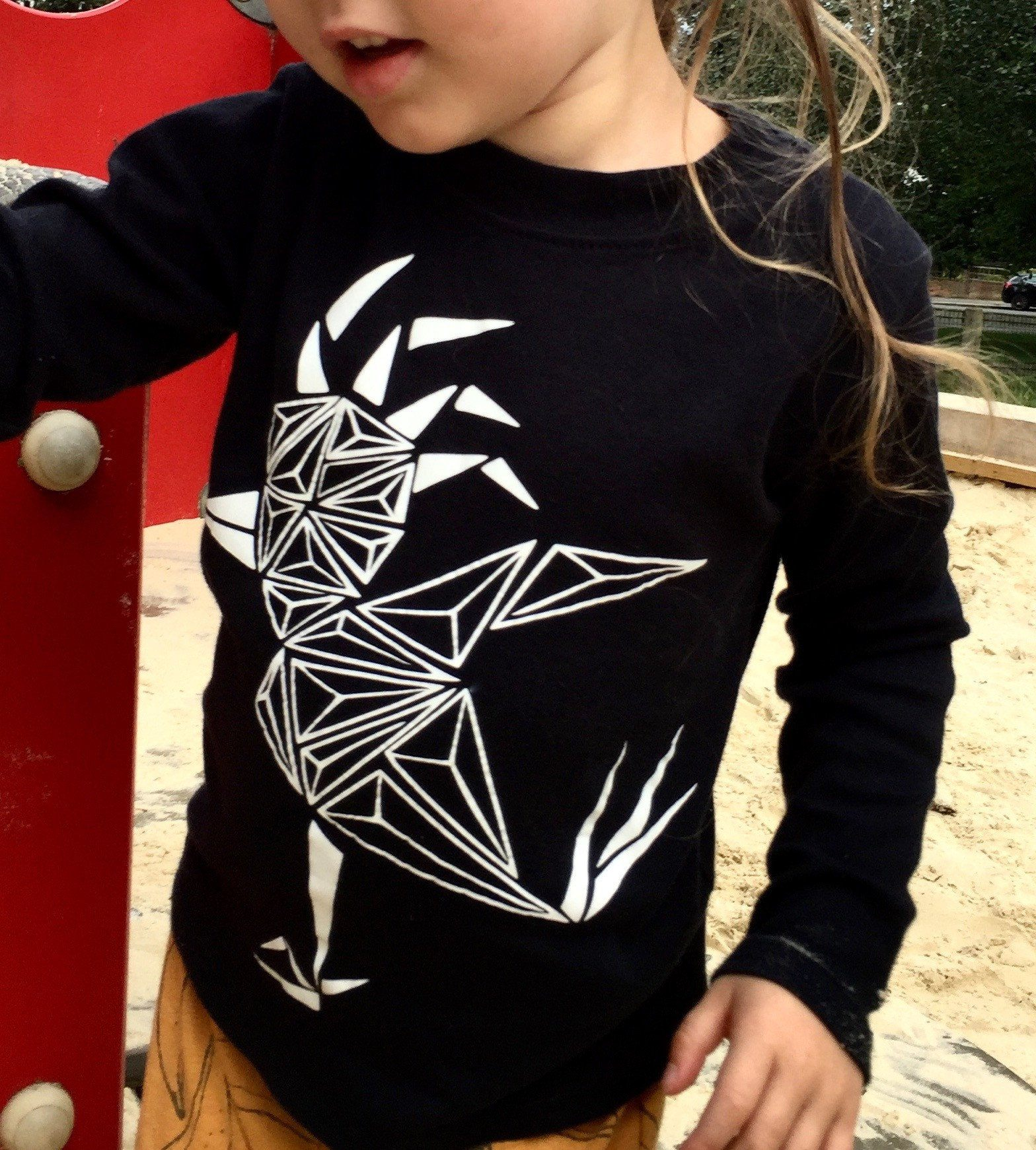 Shirts - Geo Bird Kids Shirt, Long Sleeved