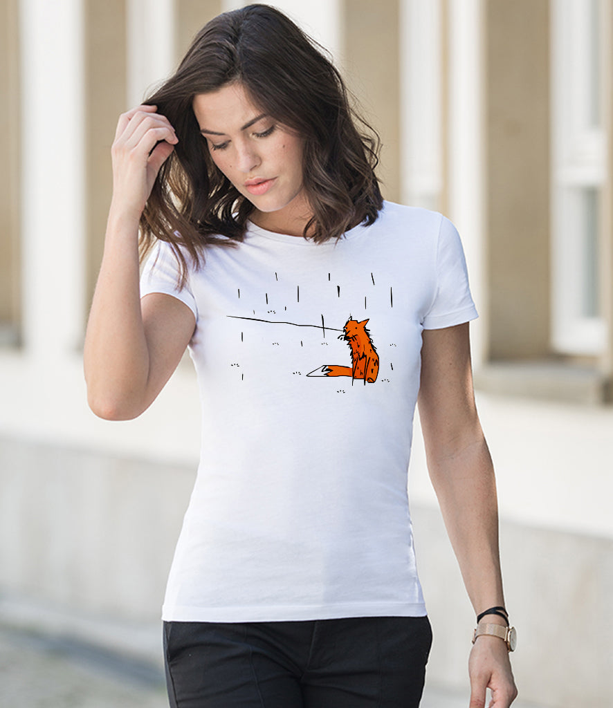 Wet fox ladies t-shirt