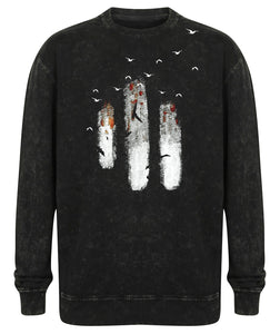 T-shirts - Abstract Birds Sweatshirt, Unisex