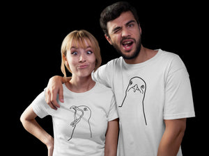 T-shirts - Couples Matching T-shirts, Seagulls