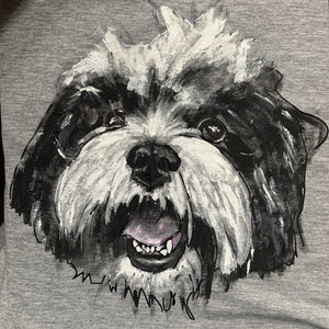 painted T-shirts - Custom Painted Pet T-shirt