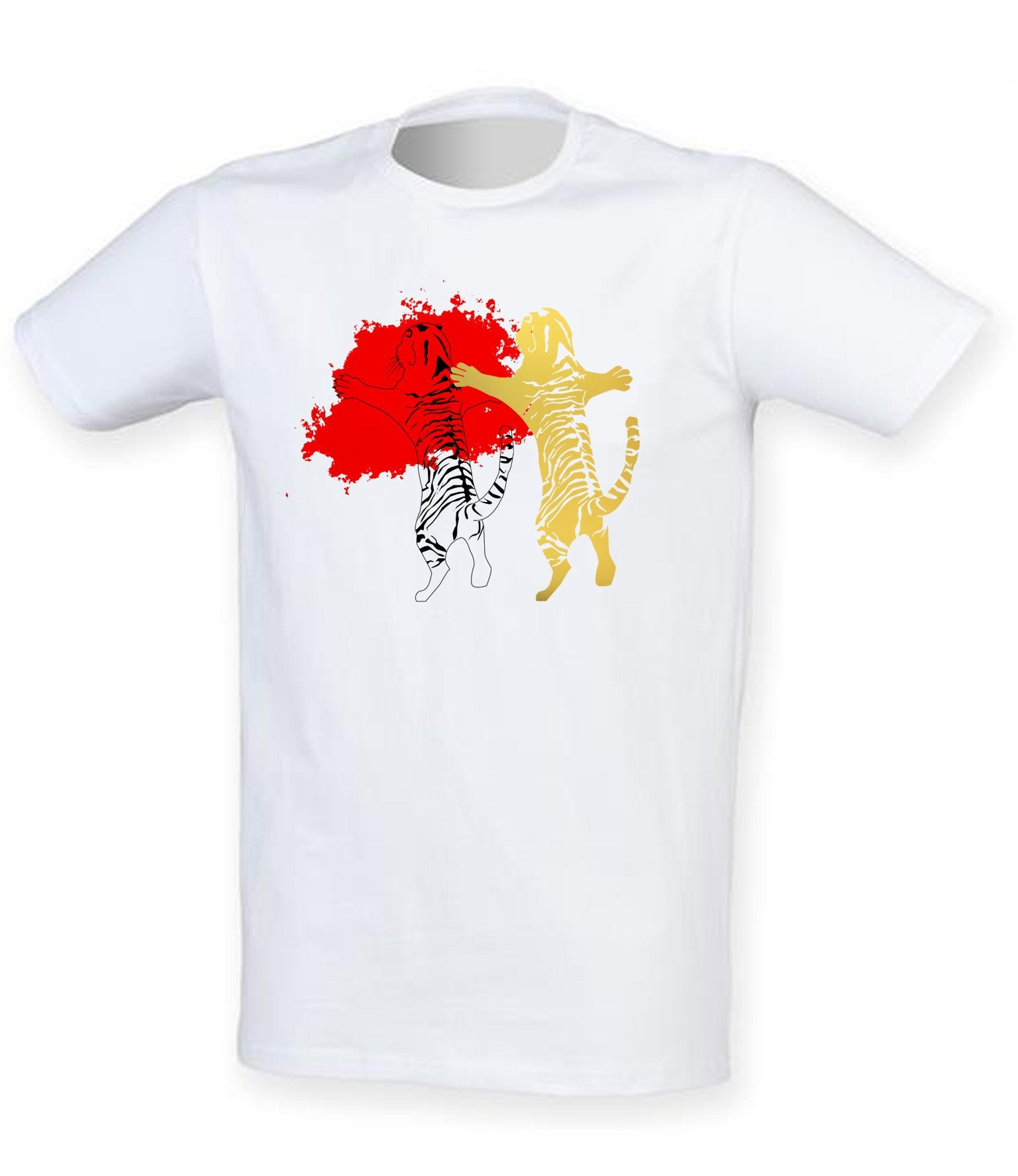T-shirts - Double Tiger Men T-shirt, White