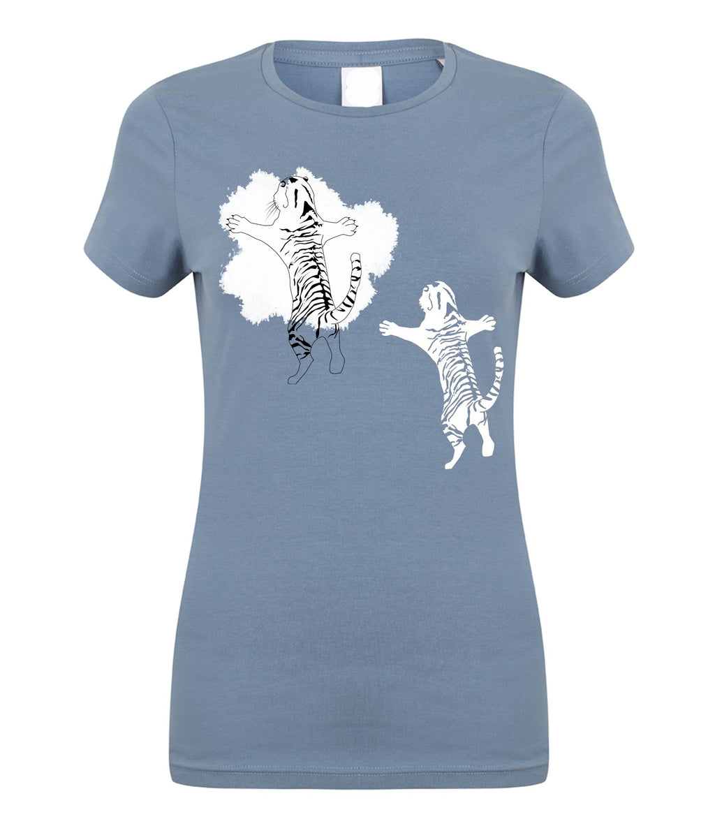 T-shirts - Double Tiger Women T-shirt, Stone Blue