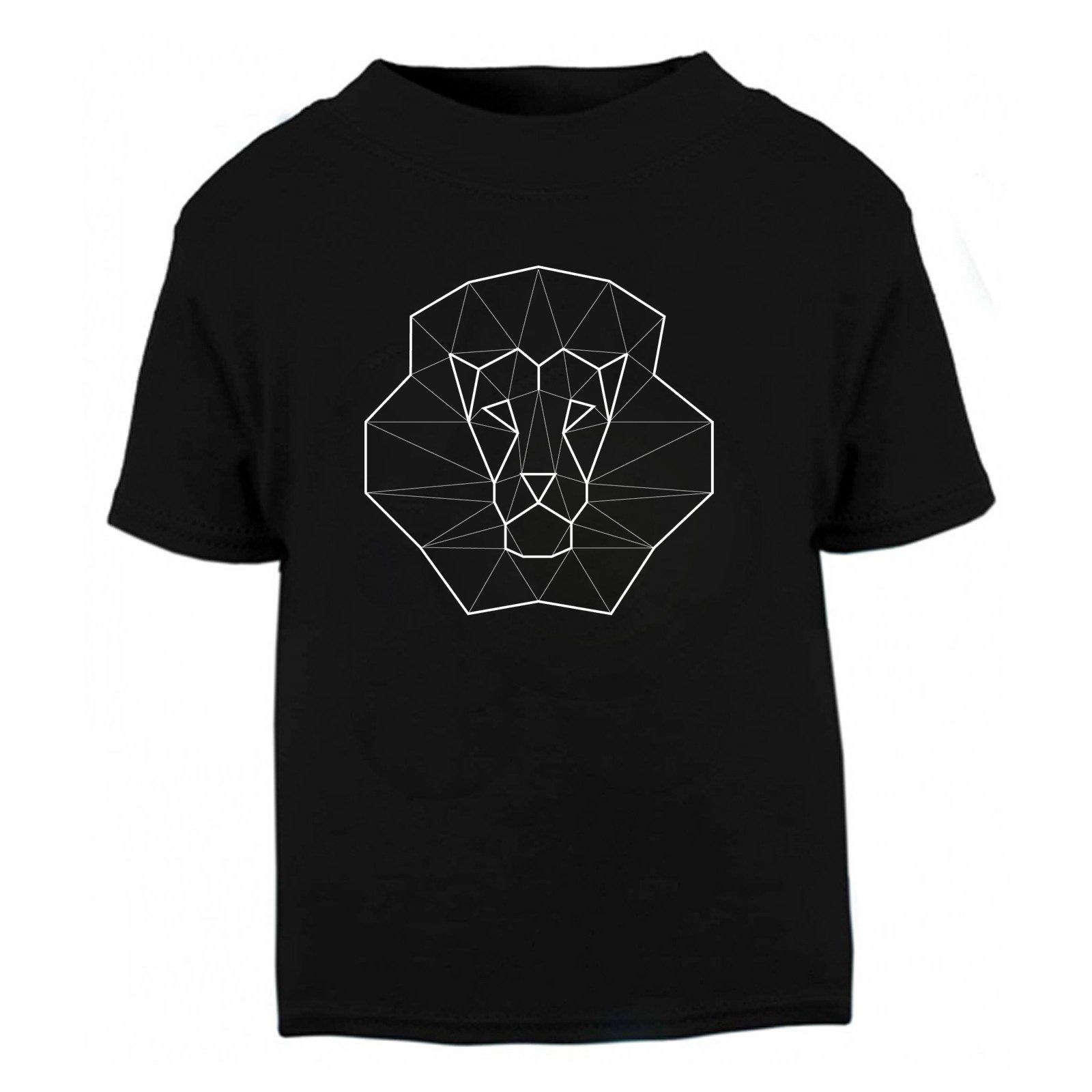 T-shirts - Geometric Lion Kids T Shirt