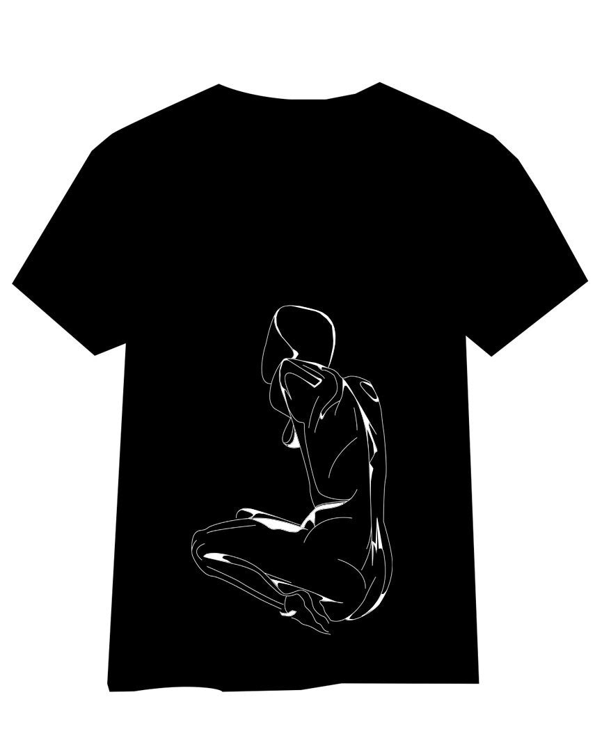 Naked woman t shirt - ARTsy clothing - 1