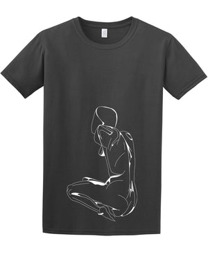 Naked woman t shirt - ARTsy clothing - 2