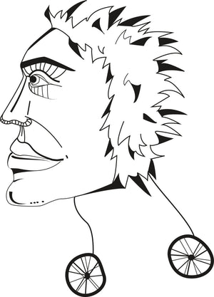 Punk t shirt face on wheels alternative - ARTsy clothing - 3