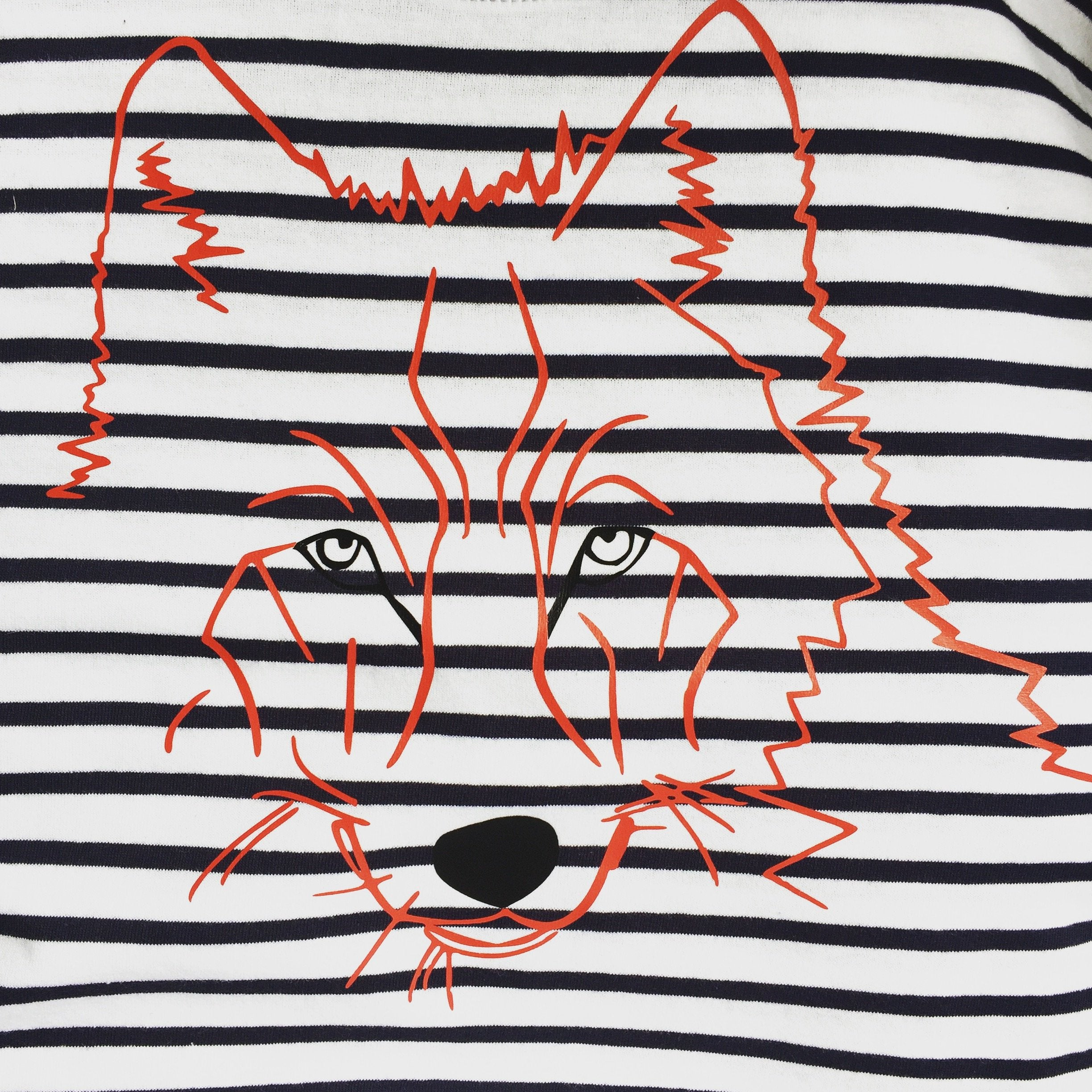T-shirts - Red Wolf Striped T-shirt, Unisex