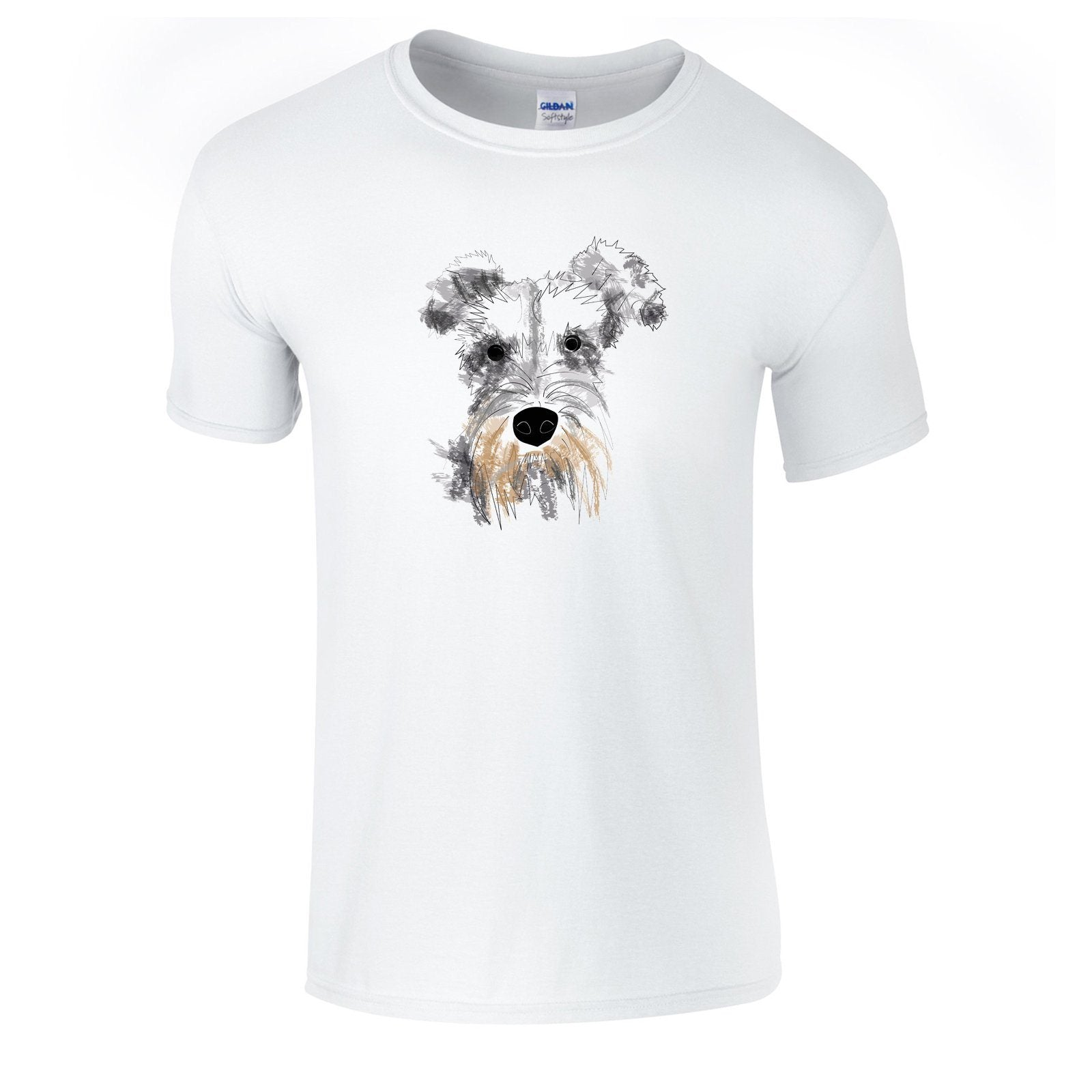 T-shirts - Schnauzer Face T-shirt