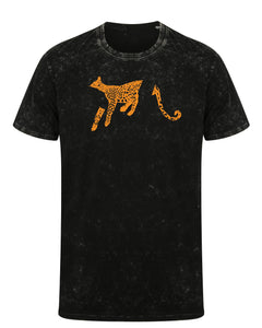 T-shirts - Sleeping Leopard T-shirt, Washed Black
