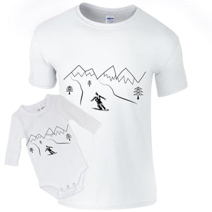 T-shirts - Snowboarding Baby Daddy T-shirt And Bodysuit
