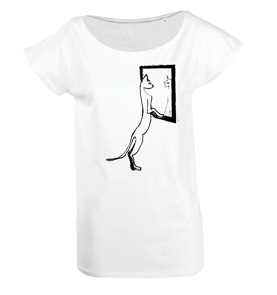 Mirror cat women top