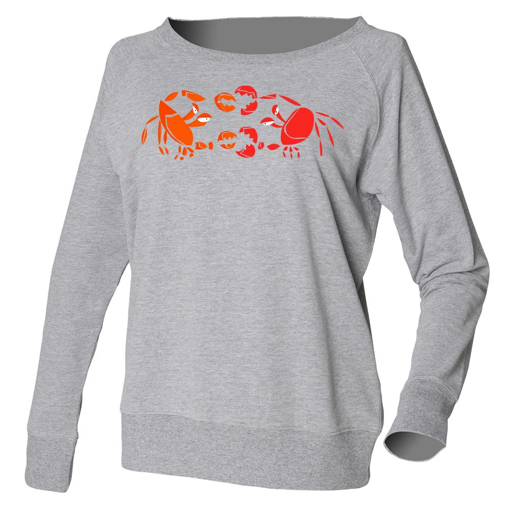 Women Top - Crab Fight Jumper, Grey
