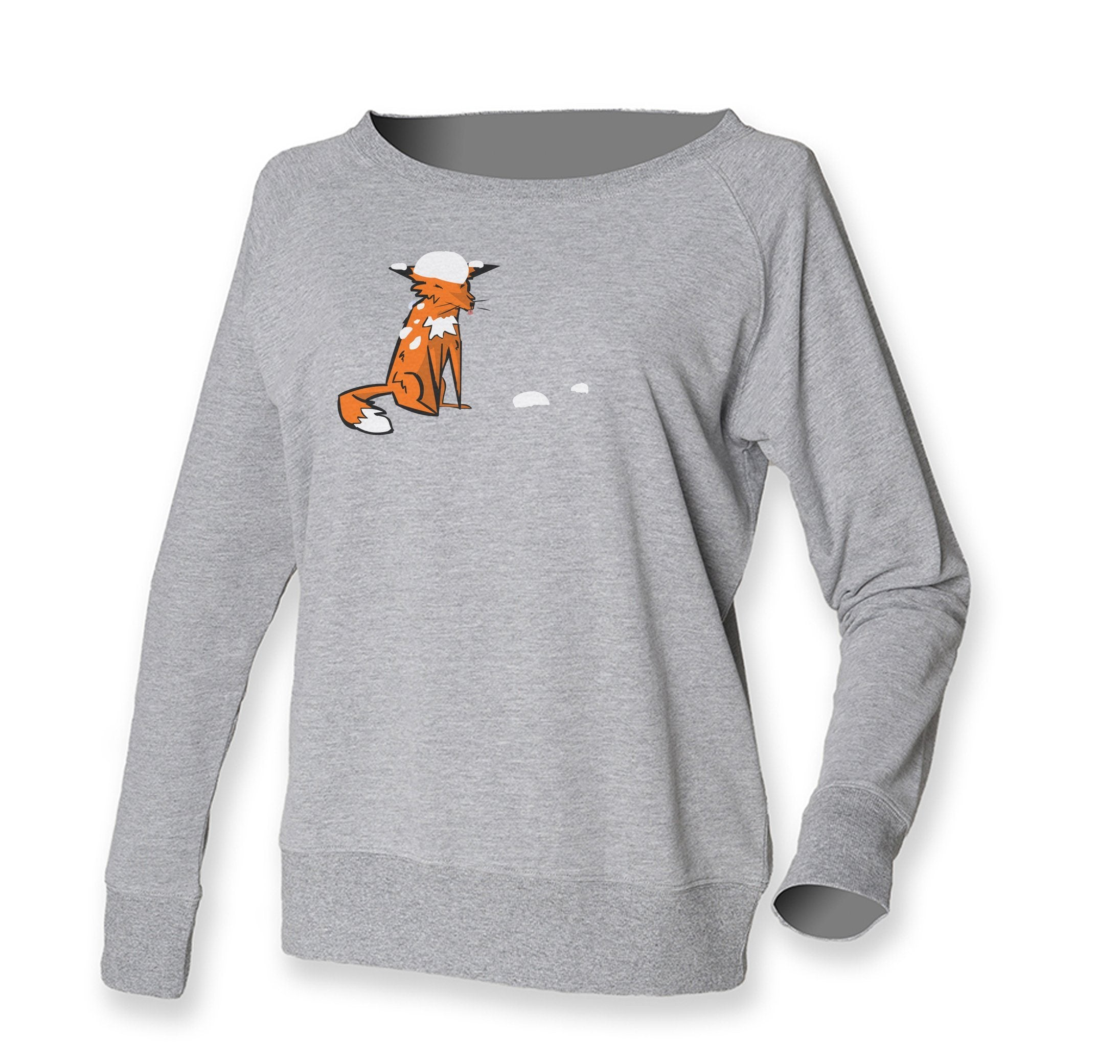 Women Top - Fox And Snow Grey Jumper