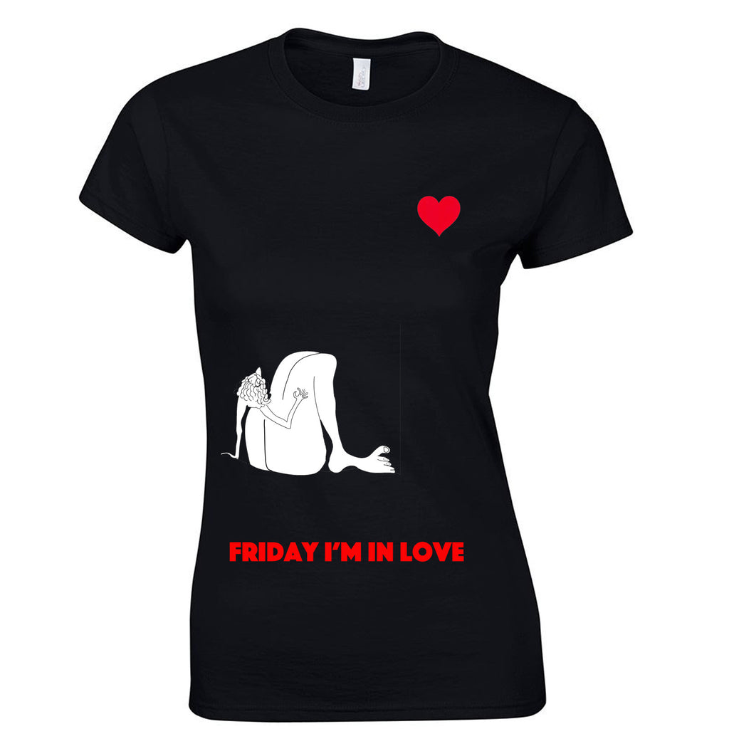 Friday Im in love t shirt, The Cure fan lady top - ARTsy clothing