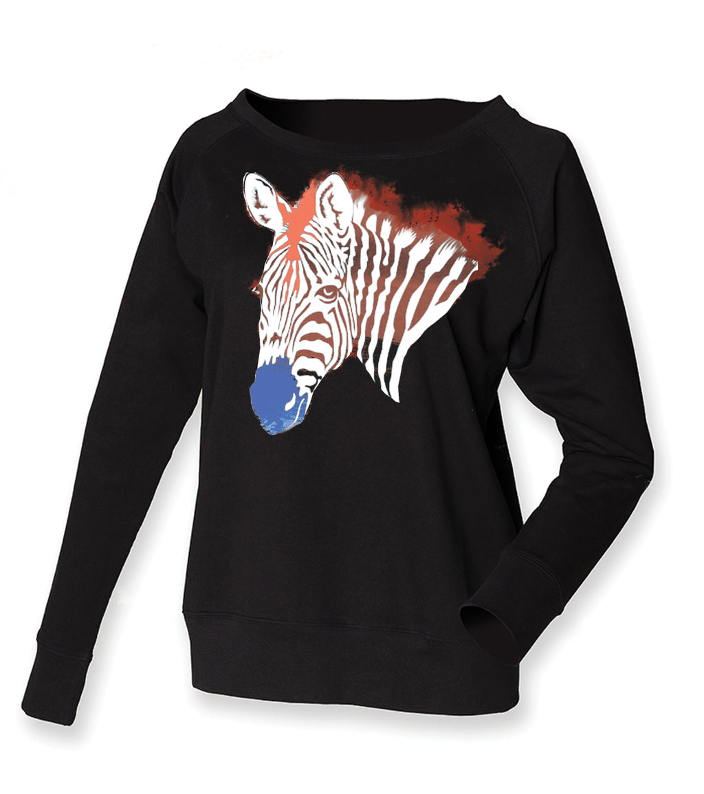 Zebra face jumper