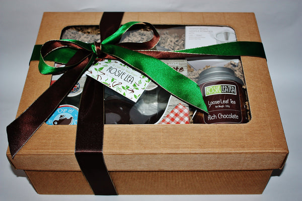 Tea Gift set for Easter - Chocolate teapot