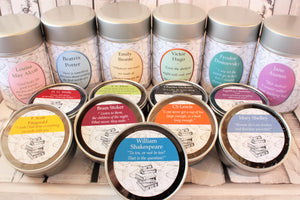 New literary tea tins